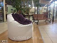Бескаркасное кресло из ткани