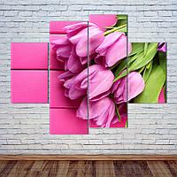 """Модульная картина """"Букет тюльпанов"""", фото 1"""