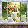 """Модульна картина """"Літні квіти"""""""
