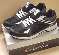 Демисезонные кроссовки Free Marka Цвет черный с белыми вставками