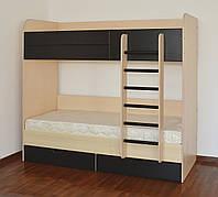 Двухярусная кровать Летро Макс 80х200см светлый венге-тёмный венге