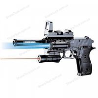 Пистолет с фонариком и лазерным прицелом