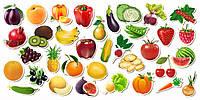 Паззл - набор «Овощи, фрукты, ягоды»