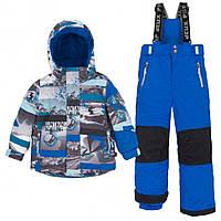 Зимний комплект для мальчика от 2 до 7 лет (куртка, полукомбинезон) ТМ Deux par Deux Синий K804-469