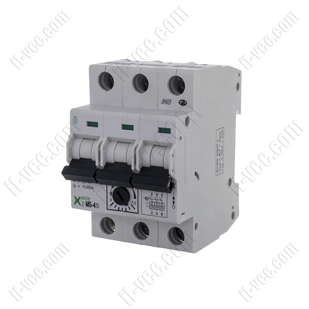 Автоматический выключатель защиты двигателя Z-MS-4/3  2,5-4A EATON