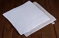 Подушка льняная в коляску Lintex чехол белый хлопок 35x35 см