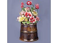 Статуэтка Корзина с цветами 18 см фарфор 461-225