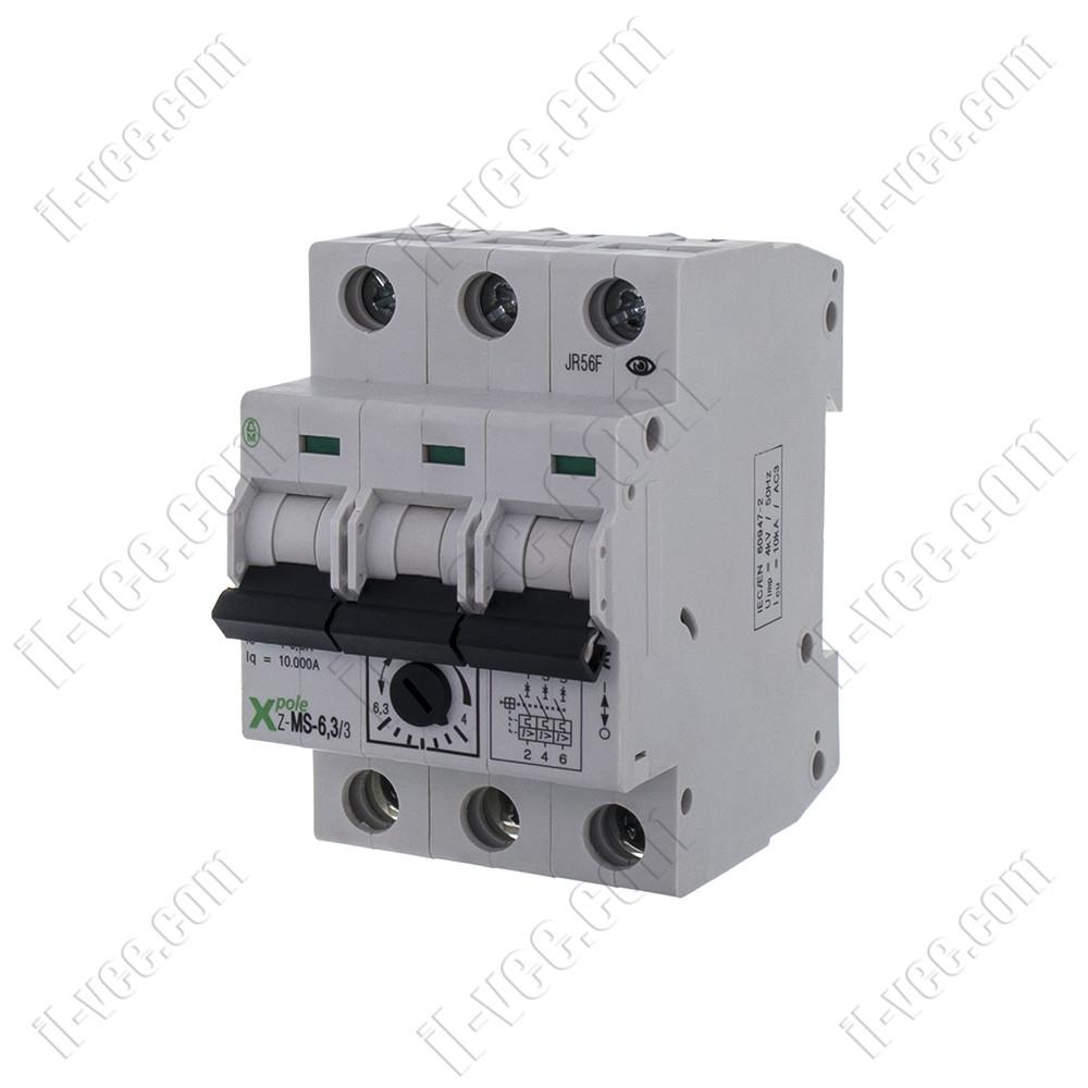 Автоматический выключатель защиты двигателя Z-MS-6,3/3  4-6,3A EATON