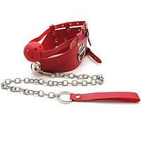 Красный кляп с цепью, фото 1