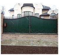 Кованый забор из профнастила арт.zp.2