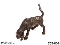Статуэтка декоративная Собака 27 см металл