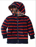 Детская флисовая кофта на молнии с капюшоном