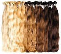 Волосы на кератиновых капсулах 55 см 100 капсул 80 грамм