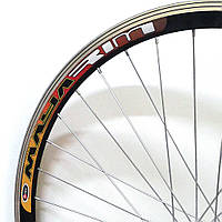 Велосипедное колесо Mayarim, двойной обод, 28 дюймов, алюмин. втулка, промподш., V-brake, заднее, фото 1