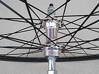 Велосипедное колесо Mayarim, 28 дюймов, алюмин. втулка, на промподш., под торм. диск, переднее, фото 1