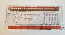 Линейка для оценки электрокардиограммы (ЭКГ-линейка), Германия (оранжевые полосы)