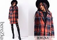 Женское прямое шерстяное пальто