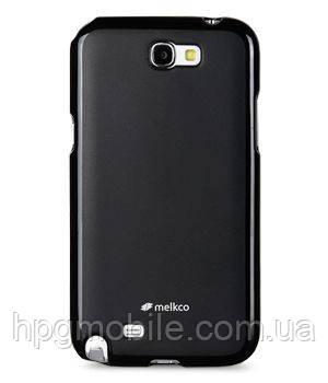 Чехол для Samsung Galaxy Note 2 N7100 - Melkco Poly Jacket TPU, черный