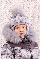 """Шапка зимняя """"Скандинавия"""" для мальчика 48 см."""