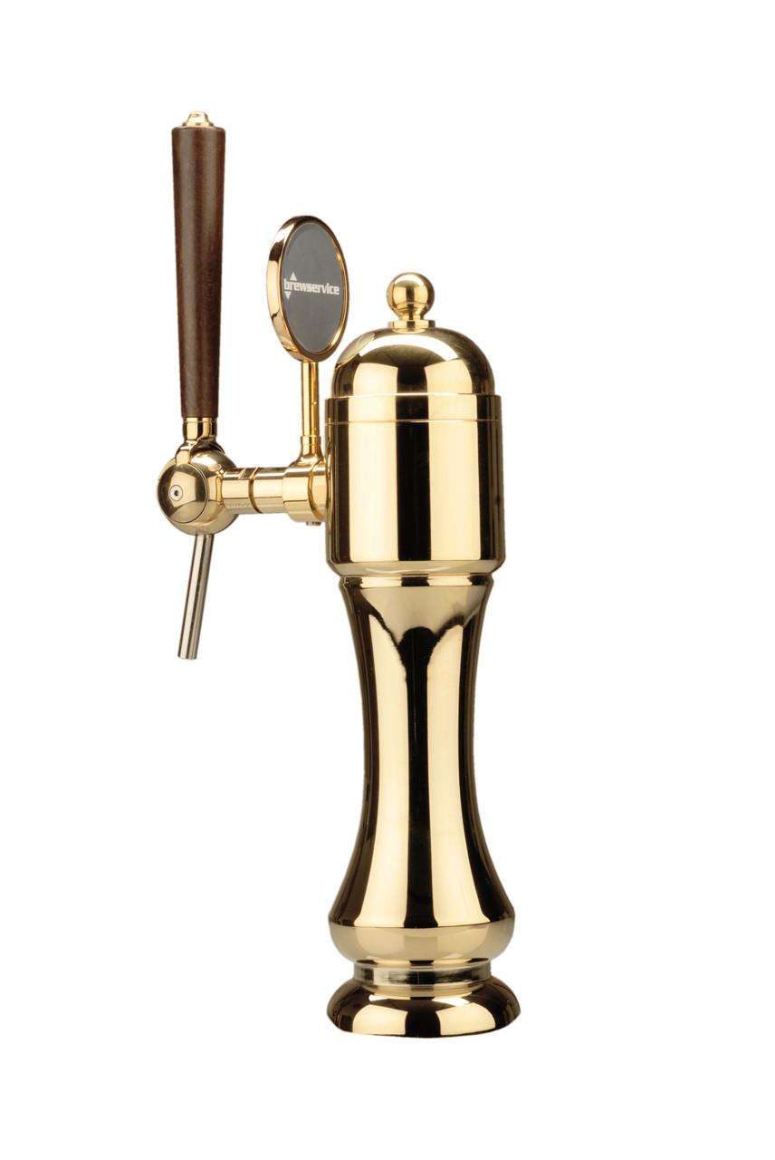 """Пивная колонна MILLENNIUM на 1 сорт пива, с краном и медальоном, """"золото"""", Bevco, Италия"""
