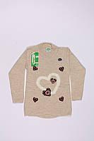 Вязанная туника для девочек оптом (4-9 лет), фото 1