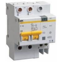 Диференційний автоматичний вимикач АД12 2Р 06А 10мА ІЕК