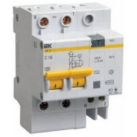 Диференційний автоматичний вимикач АД12 2Р 20А 30мА ІЕК
