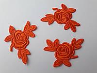 """Аплікації Трояндочки"""", оранжеві , 5 см  (комплект 3 шт)"""