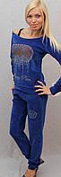 Велюровый костюм  синий, фото 1