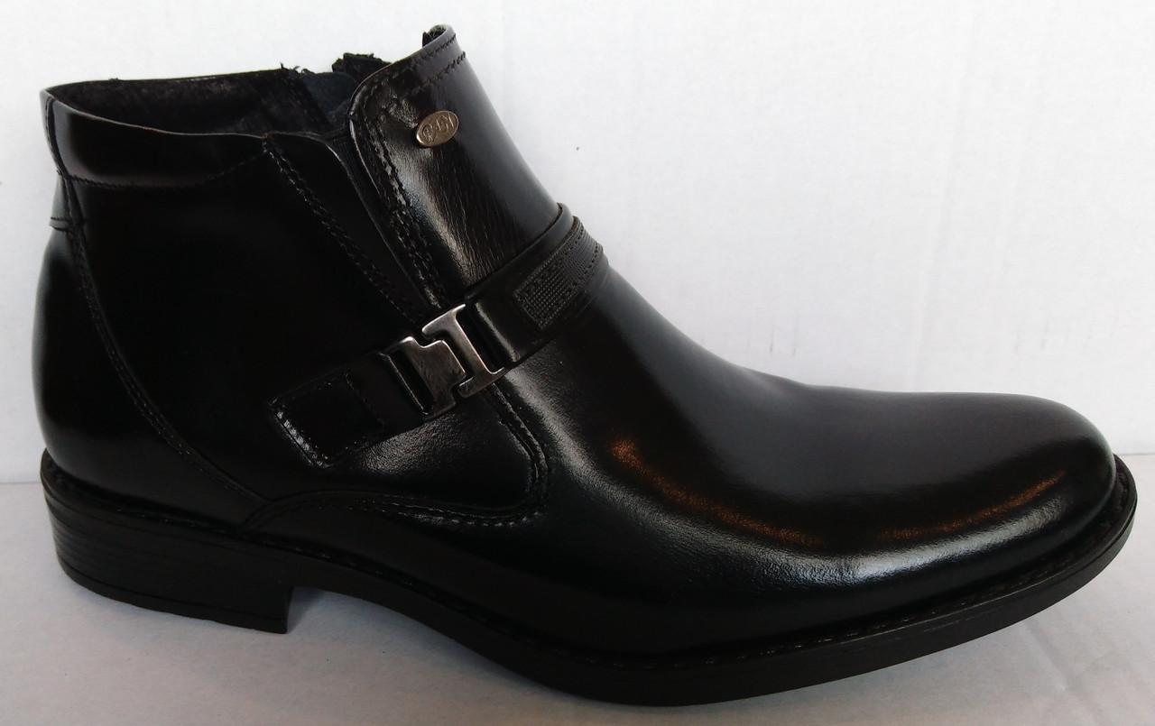 """Зимові шкіряні чоловічі ботинкии """"Pan"""" (Польща) 3545"""