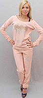 Велюровый костюм персиковый