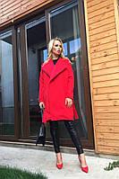 Женское полу-пальто с поясом