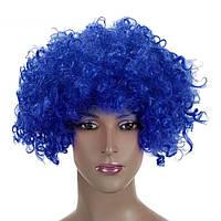Парик клоуна однотонный синий