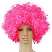Парик клоуна однотонный розовый