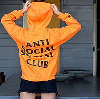 ASSC Paranoid Undefeated • Женская оранжевая худи • Живые фото • Бирка оригинальная