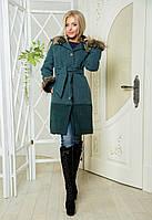 """Стильное молодежное пальто  """" Отделка мех """" Dress Code"""