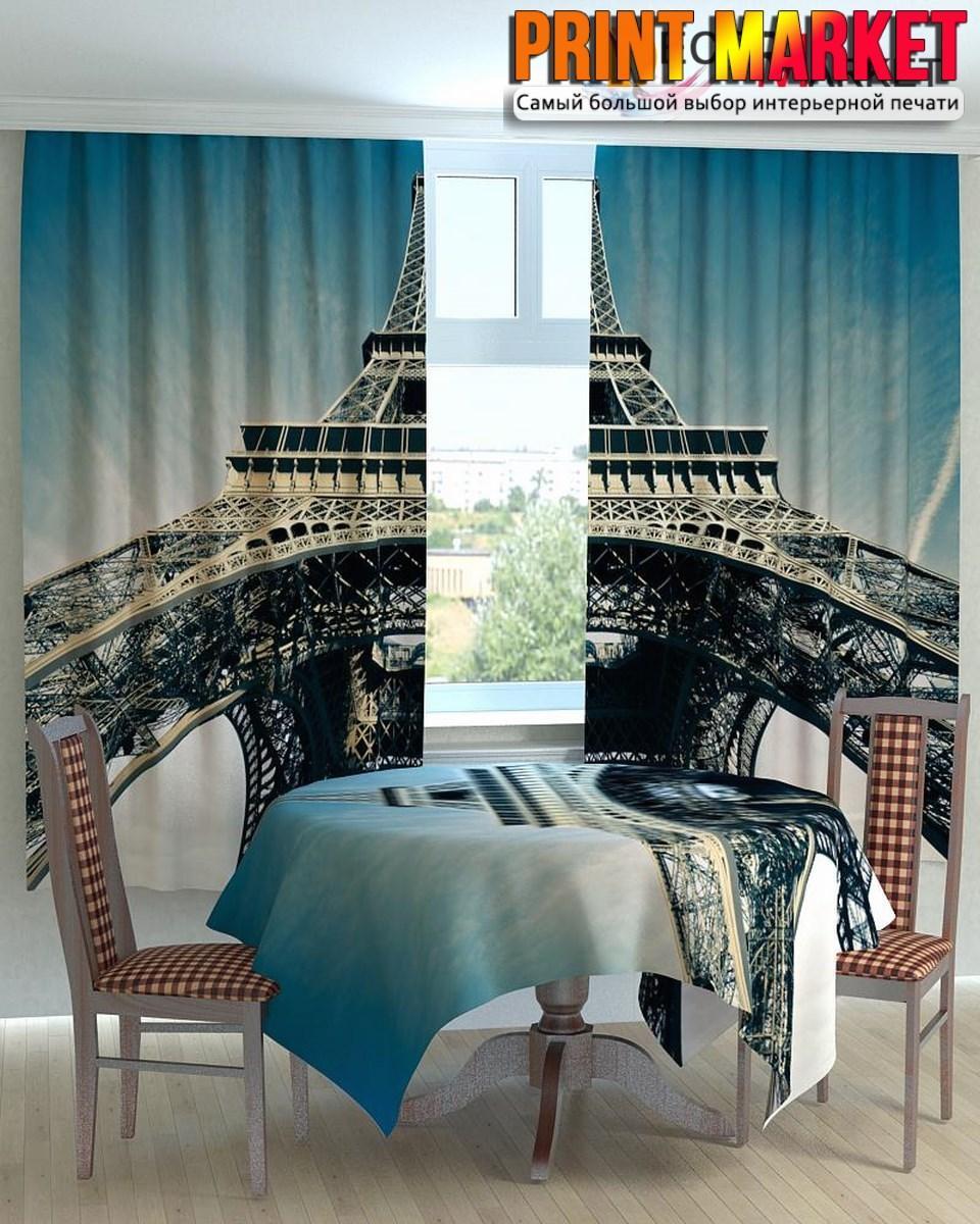 Фотошторы для кухни Эйфелева башня