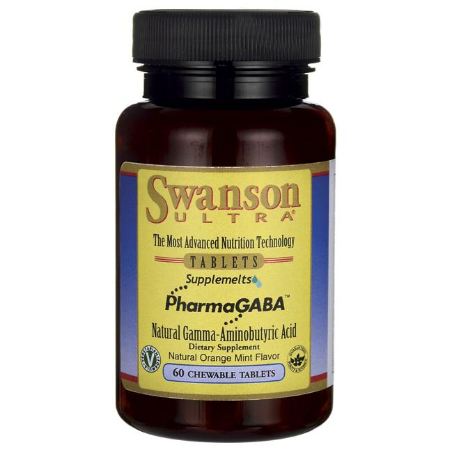 Гамма-аминомасляная кислота, PharmaGABA, Swanson, 100 мг, 60 Chwbls