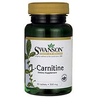 L-Карнитин, L-Carnitine, Swanson, 500 мг, 30 таблеток