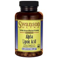 Альфа-липоевая кислота, Alpha Lipoic Acid, Swanson, 300 мг, 120 капсул
