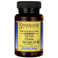 Р-часть Альфа-Липоевая кислота, Triple Strength R-Fraction Alpha Lipoic Acid, Swanson, 300 мг, 30 капсул
