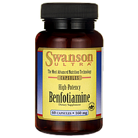 Бенфотиамин, High-Potency Benfotiamine, Swanson, 160 мг, 60 капсул