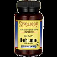 Бенфотиамин, High-Potency Benfotiamine, Swanson, 160 мг, 60 капсул