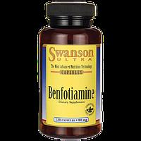Бенфотиамин, Benfotiamine, Swanson, 80 мг, 120 капсул