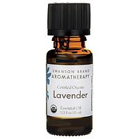Масло лаванды, Certified Organic Lavender Essential Oil, Swanson, 0.5 fl oz (15 мл) жидкий