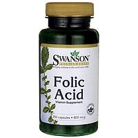 Фолиевая кислота, Folic Acid, Swanson, 800 мкг, 250 капсул