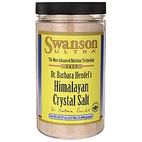 Гималайская кристаллическая соль, Himalayan Crystal Salt, Swanson, 35.27 oz (1.000 грамм) Salt