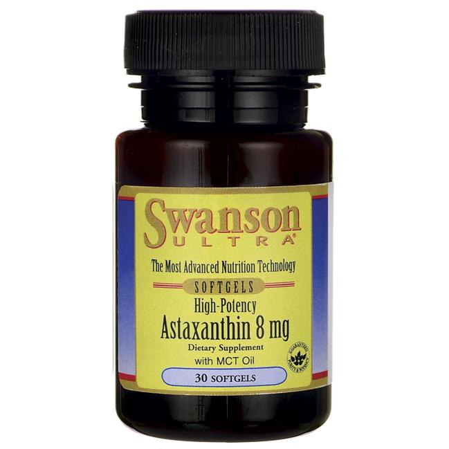 Астаксантин, High Potency Astaxanthin, Swanson, 8 мг, 30 капсул