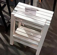 Стремянка деревянная складная Евродом,  цвет белый, фото 2