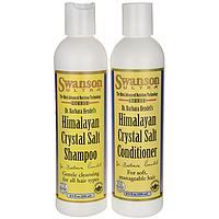 Шампунь с гималлайской солью, Himalayan Crystal Salt Shampoo/Conditioner Combo, Swanson, 8.5 fl oz each жидкий